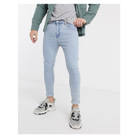 Bershka super skinny jeans in light blue