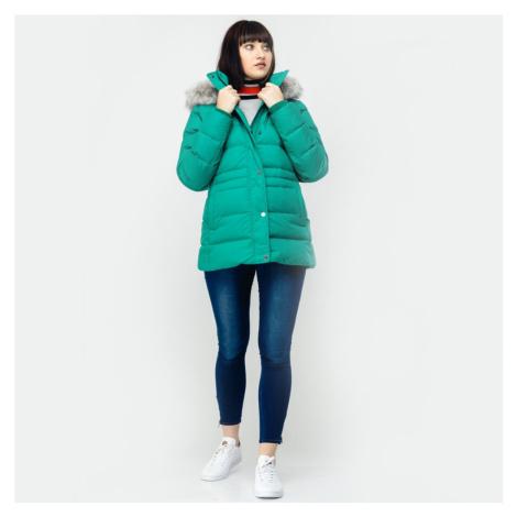 Tommy Hilfiger dámská zelená zimní bunda Tyra