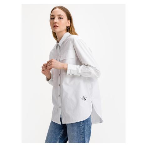 Twill Košile Calvin Klein Bílá