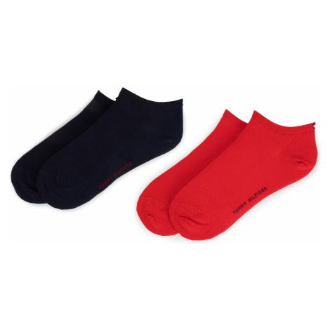 Sada 2 párů dámských nízkých ponožek TOMMY HILFIGER - 343024001 Red 684