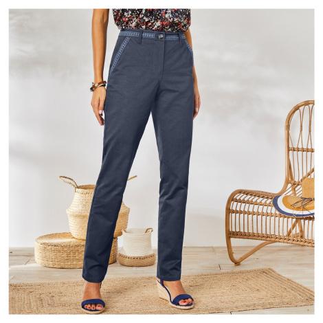 Blancheporte Chino macramé kalhoty modrošedá