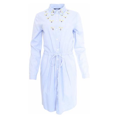 Světle modré šaty s korálky Kookai Kookaï