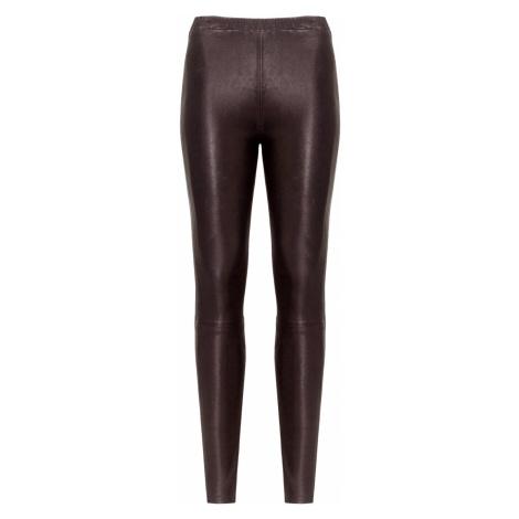 Kožené kalhoty J Brand MACEY HIGH RISE PULL ON PANT černá