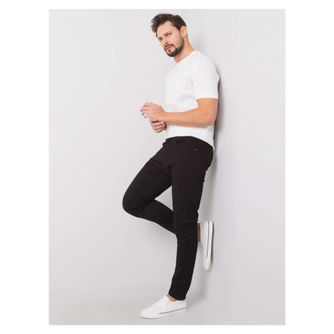 Pánské černé džínové kalhoty FPrice