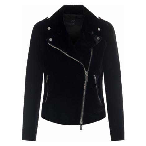 Černá sametová bunda - ARMANI EXCHANGE