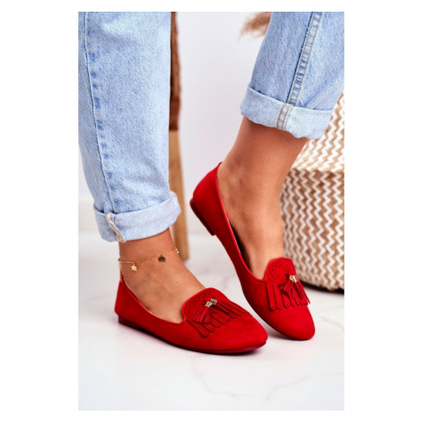 Women's Loafers Red Lords Fringe Blue Therese Kesi
