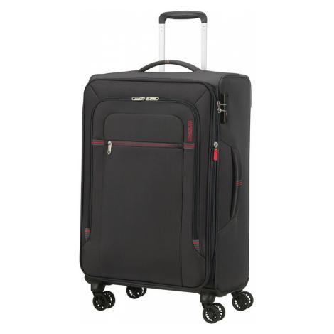 Střední kufr American Tourister CROSSTRACK šedá- červená 133190-2645