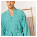 Blancheporte Jednobarevný župan s kimono límcem, pro dospělé osoby smaragdová zelená