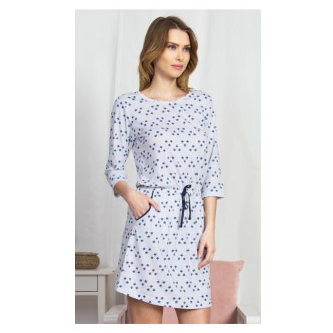Dámské domácí šaty s tříčtvrtečním rukávem Linda, XL, světle šedá Vienetta Secret