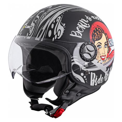 Helma Na Skútr W-Tec Fs-701Bg Black Ride Černo-Bílá