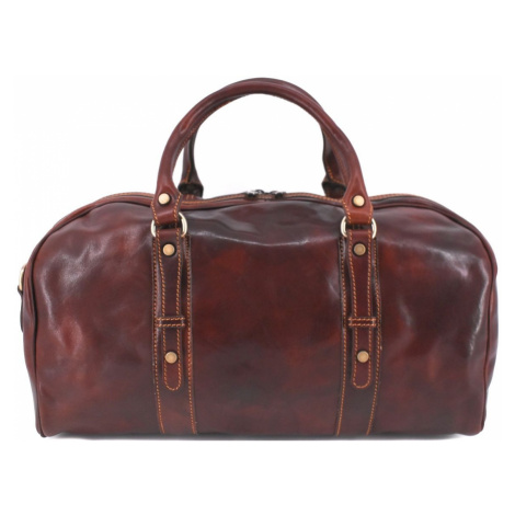 Cestovní kožena taška Arteddy - hnědá