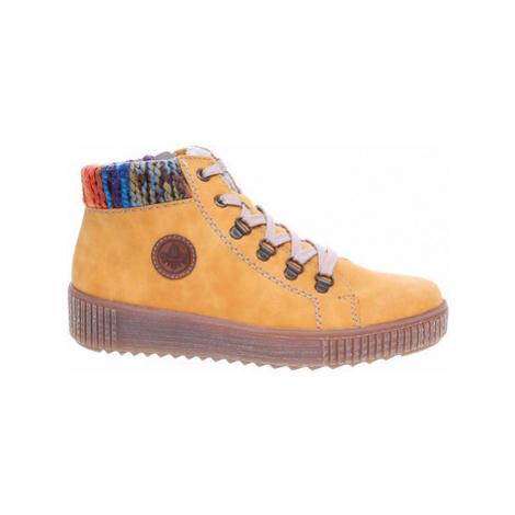 Rieker dámská zimní obuv M6411-68 gelb Žlutá