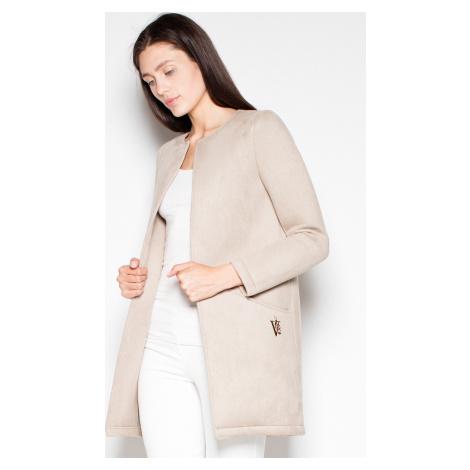 VENATON Podzimní kabátek bez zapínání VT040 Beige