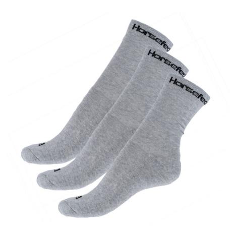 3PACK ponožky Horsefeathers šedé (AA547D) L