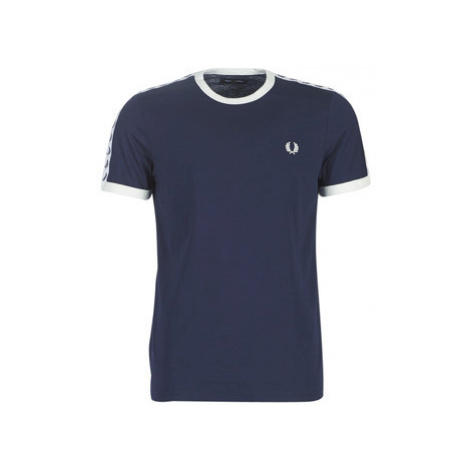 Fred Perry TAPED RINGER T-SHIRT Modrá