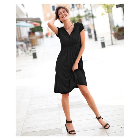 Blancheporte Krátké jednobarevné šaty černá