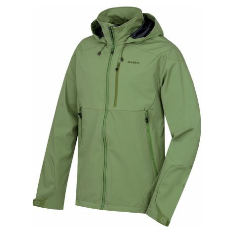 Pánská softshellová bunda HUSKY Sauri M tm.zelená