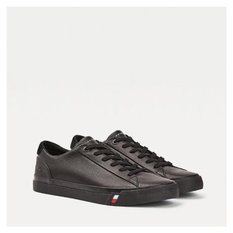Tommy Hilfiger pánské černé kožené tenisky Corporate
