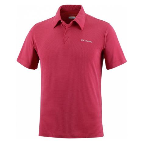 Tričko Columbia Sun Ridge™ Polo M - červená PLUS SIZE 4X
