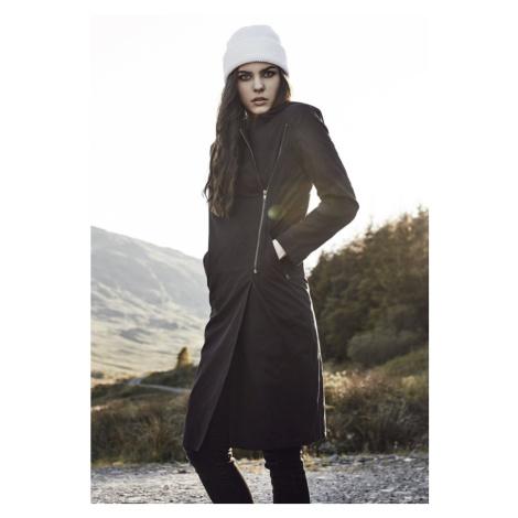 Ladies Peached Long Asymmetric Coat Urban Classics