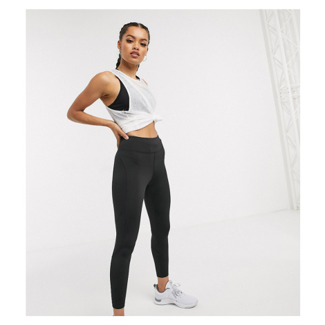 ASOS 4505 Petite icon run tie waist legging-Black