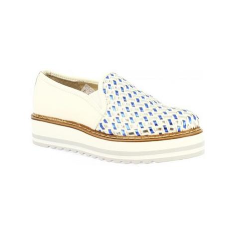Leonardo Shoes BL04W TOFFY BIANCO BLU Bílá