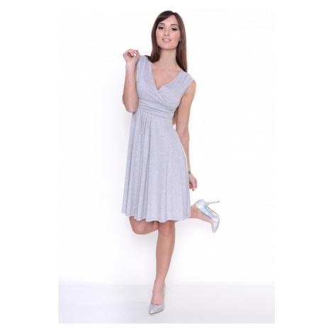 Delší vycházkové šaty bez rukávů barva šedá