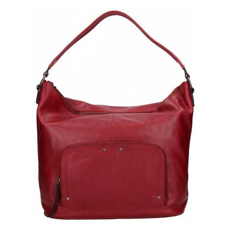 Dámská kožený kabelka Lagen Dana - červená
