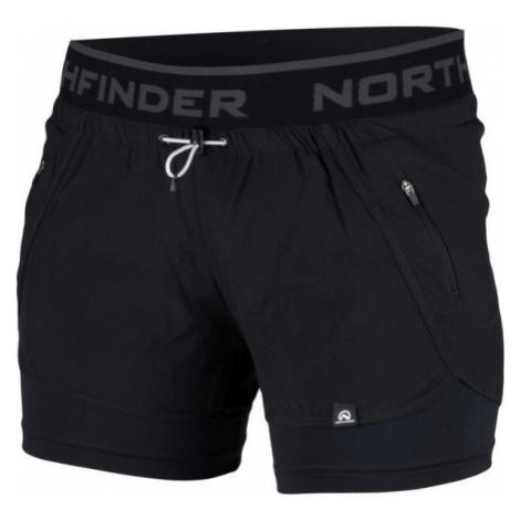 Northfinder HELEN černá - Dámské šortky 2v1