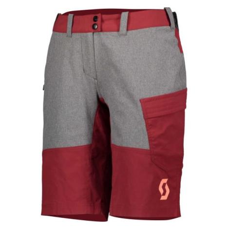 Scott TRAIL FLOW W/PAD W červená - Dámské šortky