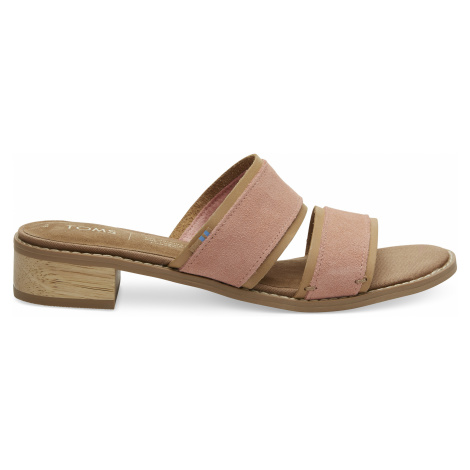 Coral Pink Suede Women Mariposa Sand Toms