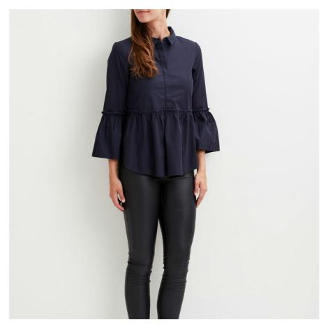 Tmavě modrá košile s 3/4 rukávem – Vireset Vila