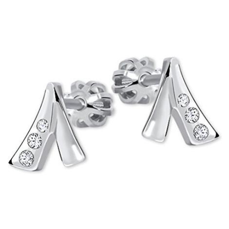 Brilio Silver Decentní náušnice s krystaly 001 04