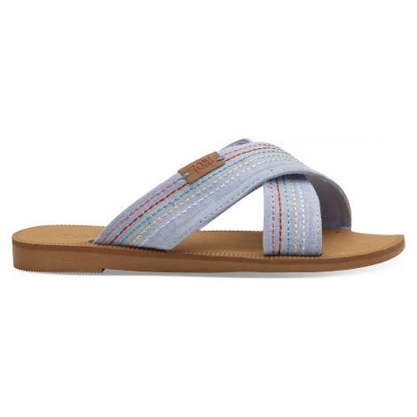 Light Bliss Blue Speckled Chambray/Deco Stitch YOUTH Viv Sand Toms