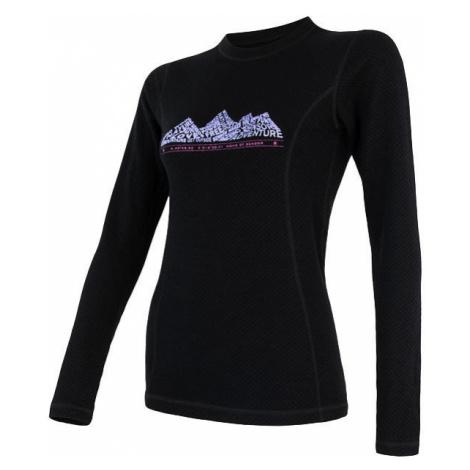 Dámské tričko SENSOR Merino DF Adventure dl.rukáv černá