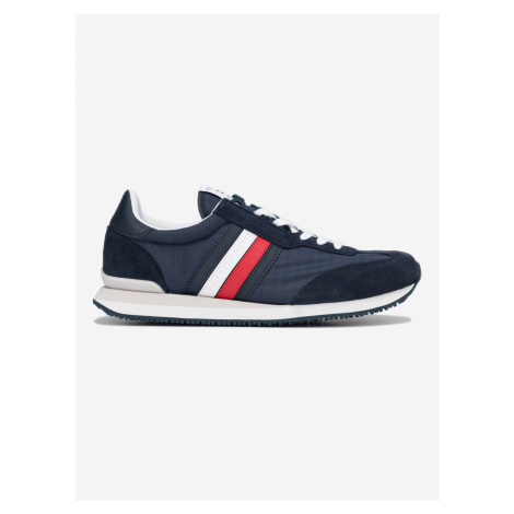 Low Mix Runner Stripes Tenisky Tommy Hilfiger Modrá