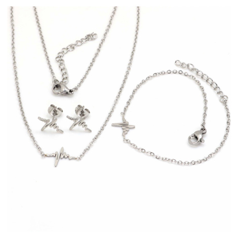 Linda's Jewelry Sada šperků Srdcebeat chirurgická ocel IS025