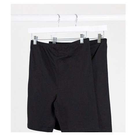 Mamalicious maternity jersey shorts 2 pack in black-Multi Mama Licious