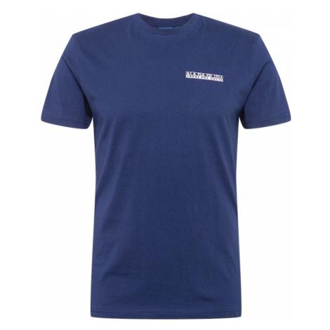 NAPAPIJRI Tričko 'SURF' marine modrá / bílá / chladná modrá