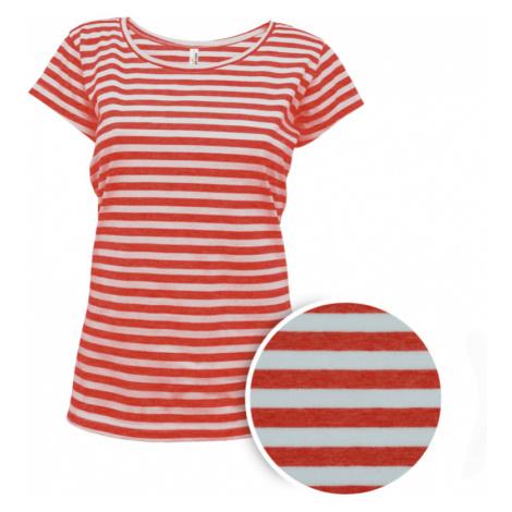 Pruhované tričko Bílo-Červené AF - dámské