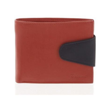Delami Pánská kožená peněženka červená - 11816 Červená