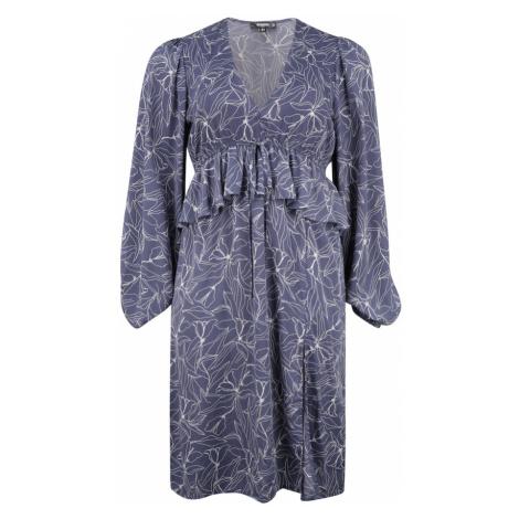 Missguided Plus Šaty tmavě modrá / bílá
