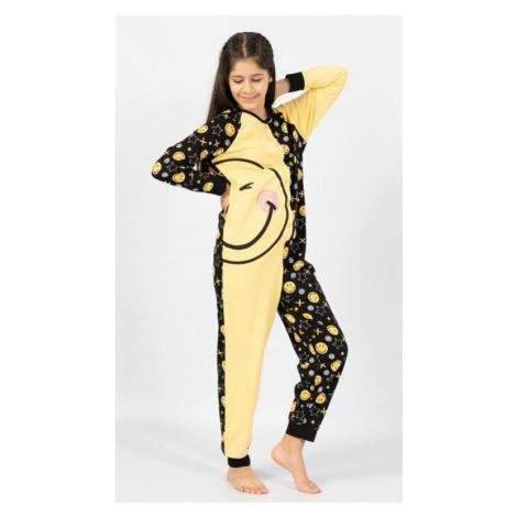 Dětský overal Vienetta Secret Big smile | žlutá