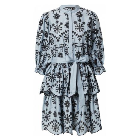 BRUUNS BAZAAR Košilové šaty 'Rosie Sinea' světlemodrá / černá
