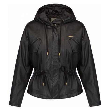 Kožená bunda AERONAUTICA MILITARE černá