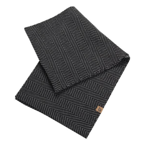 Maika černá pletená kruhová šála