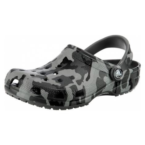 Crocs Pantofle antracitová