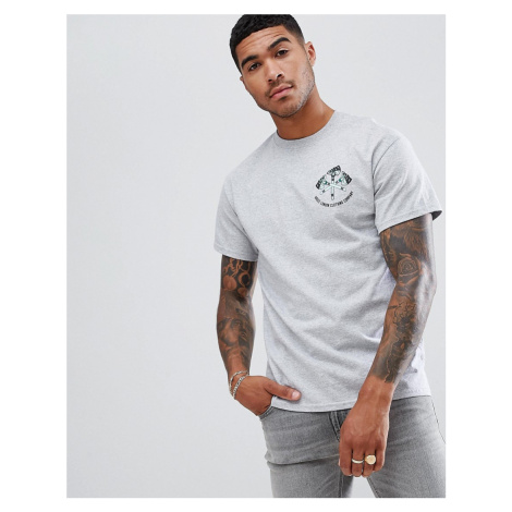 Abuze LDN A Back Print T-Shirt - Grey Abuze London