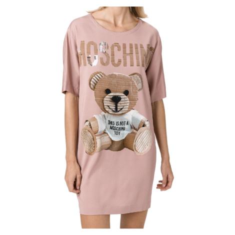 Růžové šaty - MOSCHINO