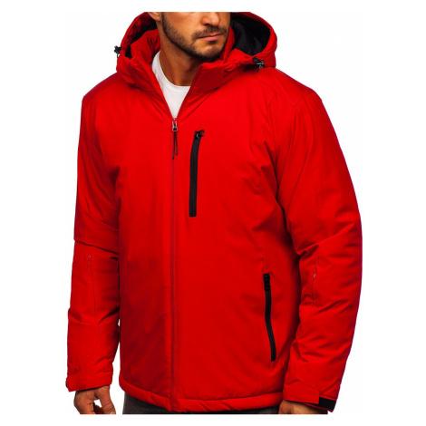 Červená pánská zimní lyžařská sportovní bunda Bolf HH011 J.STYLE